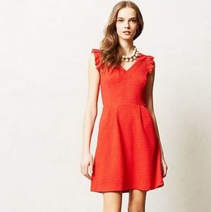 Anthropologie Tabitha Teahouse Red Dress - 14
